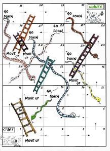 snakes and ladders NO INSTRUCTIONS VERSION