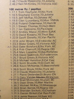 National age group rankings 1976 10 & under 100m fly short course